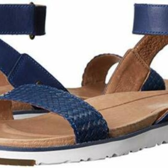 UGG Shoes - UGG Laddie Ankle Strap Sandal Navy NEW IN BOX